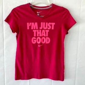 Nike Girls T-Shirt, Graphic design in Front, S:L